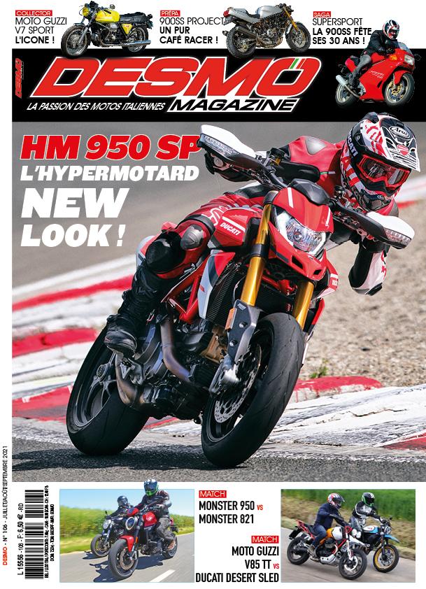 Couverture Desmo Magazine 106 (juillet-août-septembre 2021)